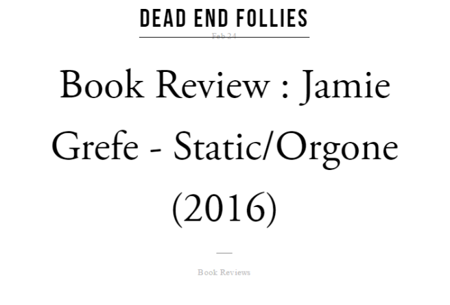 Grefe Static Orgone Book Review