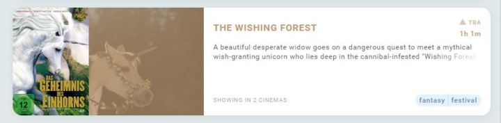 THE WISHING FOREST: Theatrical Debut in South Africa