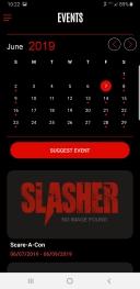 Slasher App Events